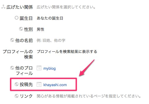 Googleplusプロフィール登録